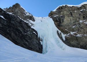 Cascade de glace de la Reculaz