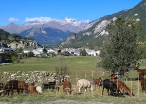 Entrée du village de Lanslebourg en Haute Maurienne